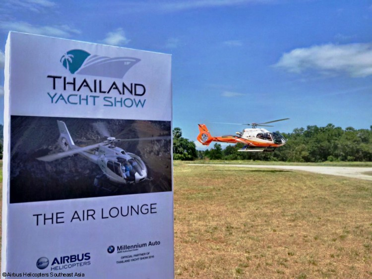 Airbus Helicopters is the Official VIP Transport Partner for Thailand Yacht Show 2016!